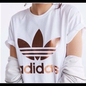 Adidas limited edition Rose Gold Tee S